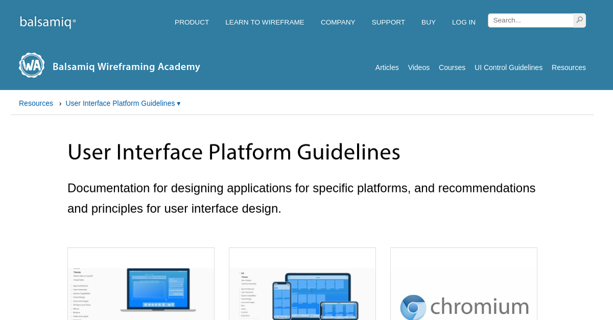 User Interface Platform Guidelines Wireframing Academy Balsamiq