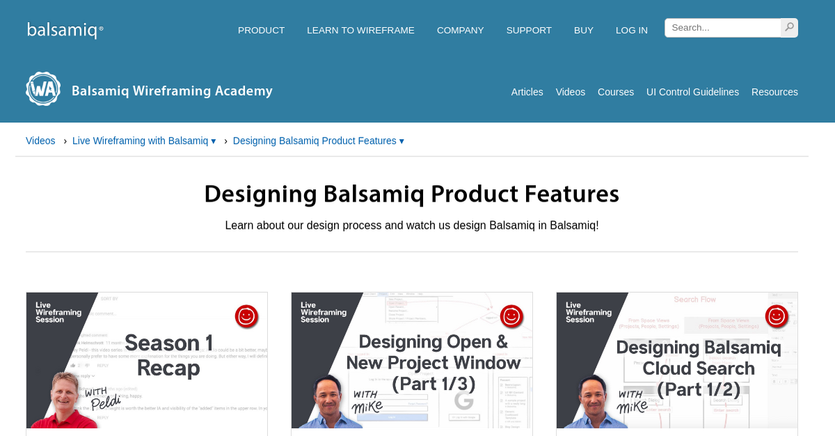 Designing Balsamiq Product Features | Wireframing Academy ...