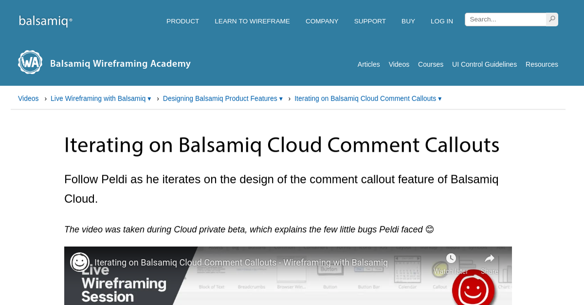 Iterating on Balsamiq Cloud Comment Callouts | Wireframing ...