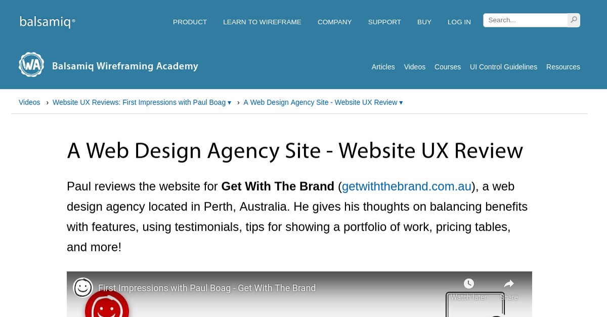 A Web Design Agency Site - Website UX Review | Wireframing ...