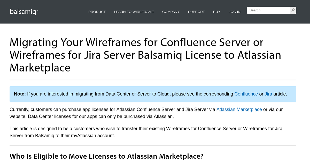 Migrating Your Wireframes for Confluence Server or ...