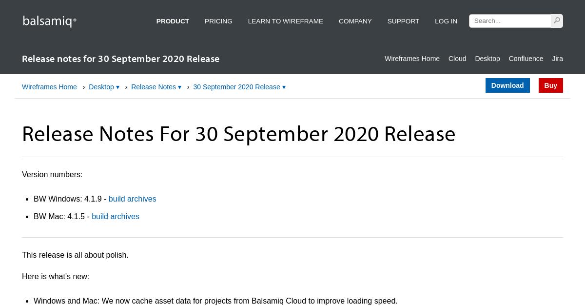Balsamiq Wireframes Release Notes for 30 September 2020 ...