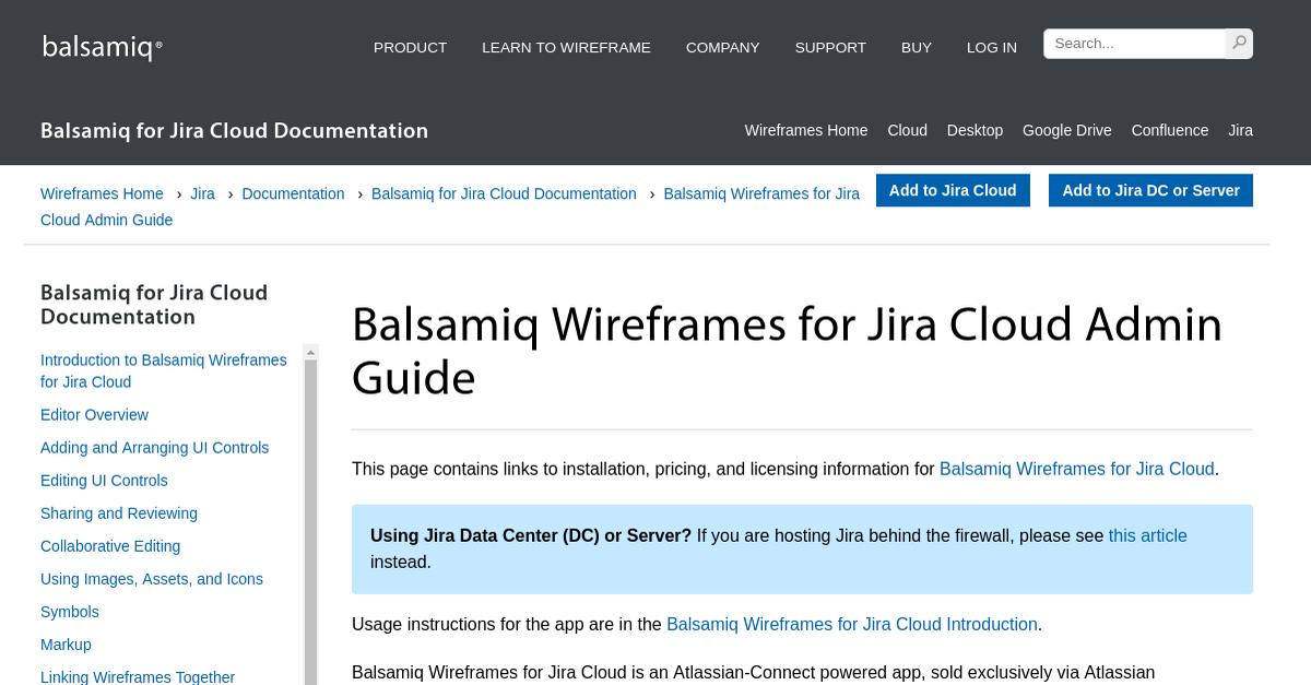 Balsamiq Wireframes for Jira Cloud Admin Guide - Balsamiq ...